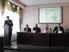 Press-conference. From left to right: Mr. Yuri Miroshnychenko, Mr. Pavel Parfentiev. Mrs. Johanna Kerestin'. Mr. Johan Bäckman