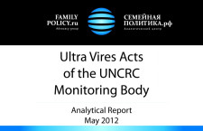 UNCRC Committee Acts Beyond its Mandate – Analytical Report